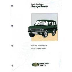 Onderdelenboek Range-Rover Classic 1992-1995 (inclusief naproductie)