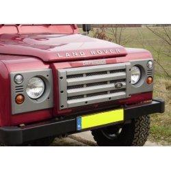 ABS faceliftset voor grille en koplamppanelen Zilveren uitvoering met zilver gaas