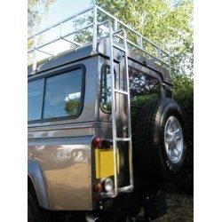 Ladder achterzijde chassis naar imperiaal (normaal dak) blank aluminium