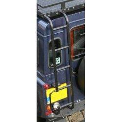 Ladder achterzijde chassis naar goot blank aluminium