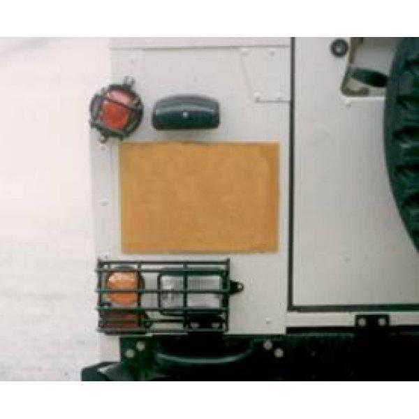 Achterlichtbeschermers Landrover Defender  set achterlichtrasters (4 stuks) Zwart Geplastificeerd