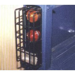 set achterlichtrasters (2 stuks) voor de H.C.P.U Zwart geplastificeerd