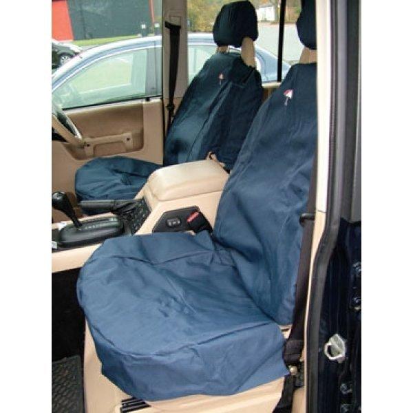 Set voor beide voorstoelen inclusief hoofdsteunen kleur blauw
