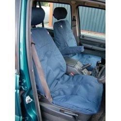 Set voor beide voorstoelen blauw