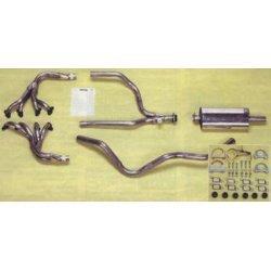 volledig sportsysteem incl. beide spruitstukken tot sept. 1990 (chassisbalk voor versnellingsbak is rechthoekig)