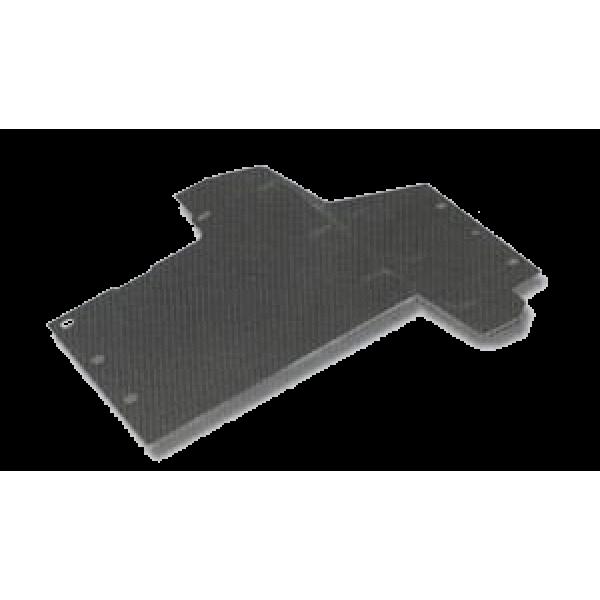 Modderplaten in voorscherm tegen schutbord voor Series III Links/LHD