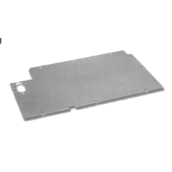 Aluminium vloerplaten vóórcompartiment Links