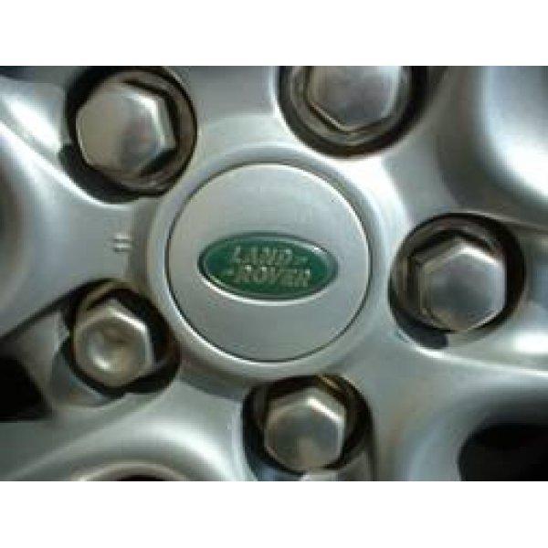 naafdop bright silver met groen Landrover logo