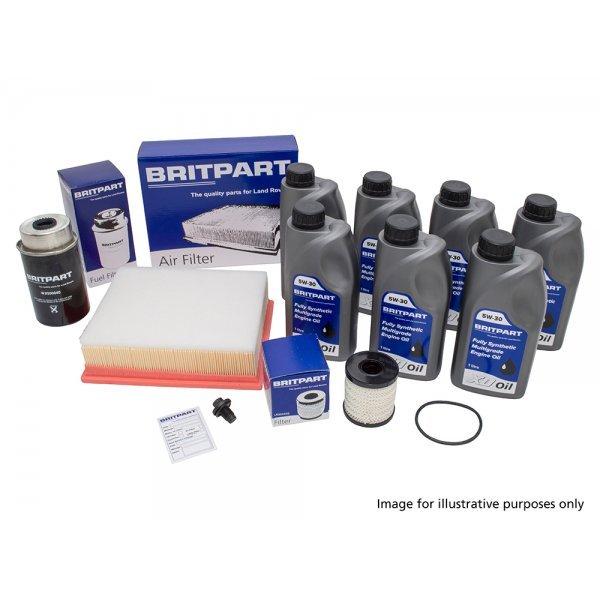 Service Kit Discovery 3 vanaf VIN 7A en Discovery 4 2.7 Diesel Britpart + 5W 30 Olie