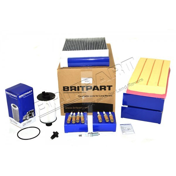 Service Kit Range Rover L405 / Range Rover Sport 5.0 V8 Benzine naturally aspirated & supercharged 2014 MY Britpart