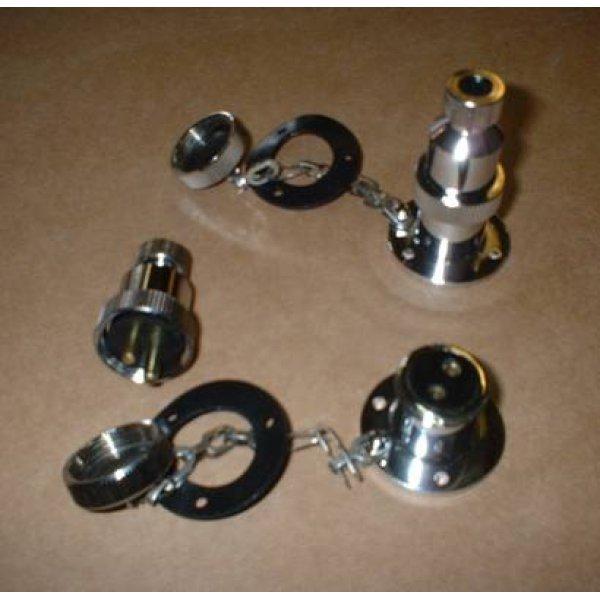 Waterdichte 2-polige doorvoerstekker