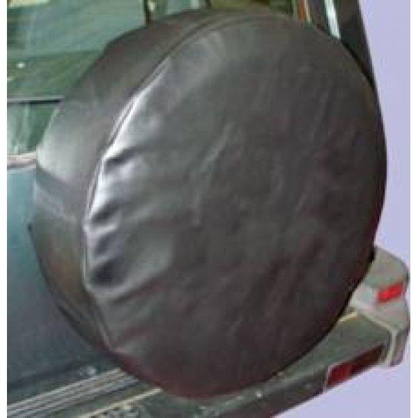 Zachte hoes zwart vinyl zonder opdruk 205/80×16