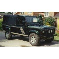 Land Rover Defender 110 - Zonder zijramen - 3/4 Daklengte - Montage op laadbak - 1984 - 2003
