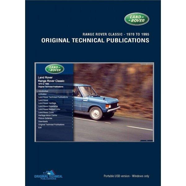 USB Range Rover Classic 1970-1995 Technische Publicaties