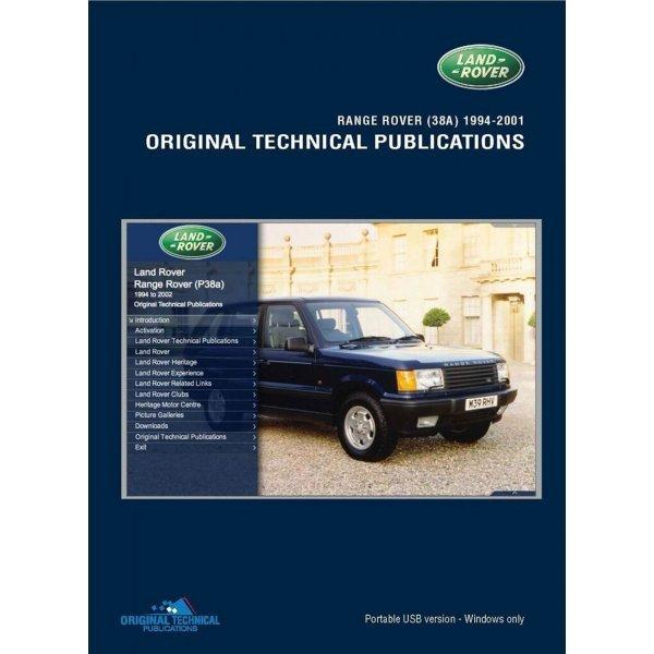 USB Range Rover P38A 1994-2001 Technische Publicaties