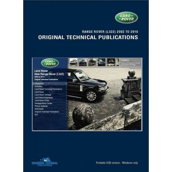 USB Range Rover L322 2002-2006 Technische Publicaties