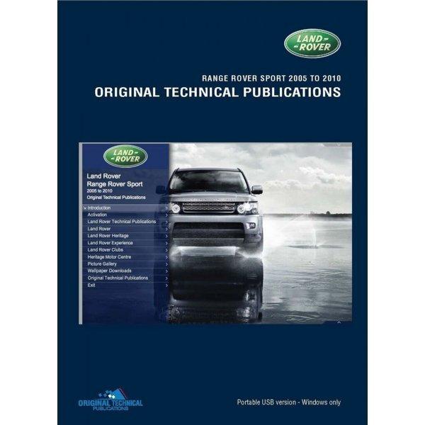 USB Range Rover Sport 2005-2009 Technische Publicaties