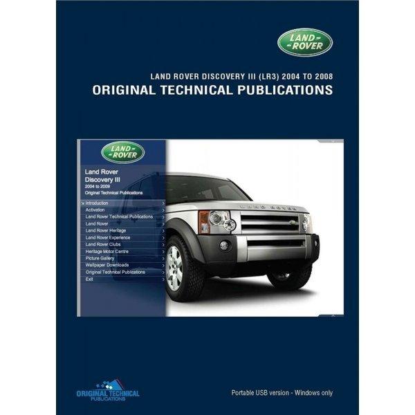 USB Discovery 3 2004-2009 Technische Publicaties